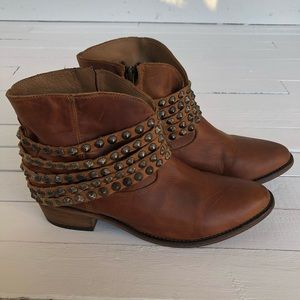 Steven By Steve Madden Janne Leather Boots Size 9